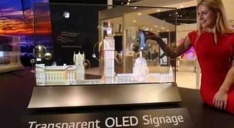 إل جي تعرض في جيتكس 2018 مستقبل اللافتات الرقمية من خلال شاشة أوليد شفافة تمامًا