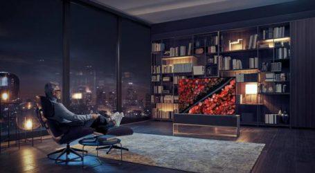 إل جي تعلن عن أول تلفاز قابل للطي في العالم